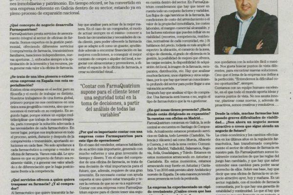 FarmaQuatrium en el periódico El País