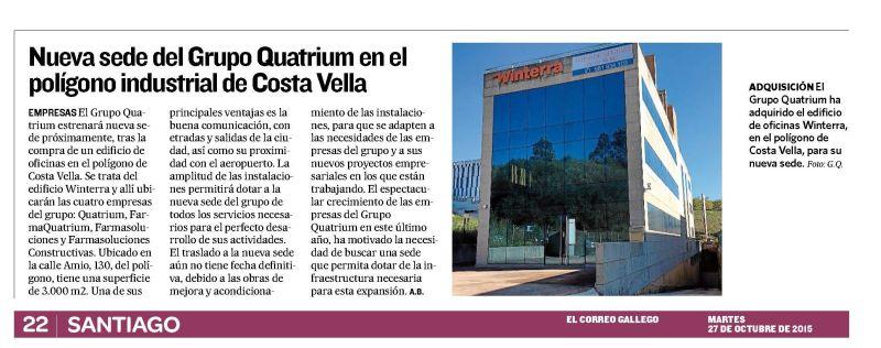 Grupo Quatrium Correo Gallego