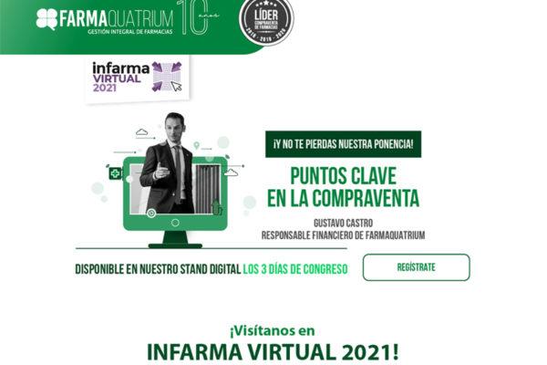 FarmaQuatrium presenta las claves en la compraventa de farmacias en Infarma Virtual 2021