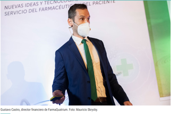 Ponencia de Gustavo Castro, director financiero de FarmaQuatrium, durante la XX Jornada Aniversario de Gestión Práctica de la Oficina de Farmacia