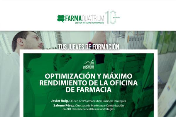 Vuelven «Tus Jueves de Formación» con nuevas claves para optimizar y maximizar los beneficios de la oficina de farmacia